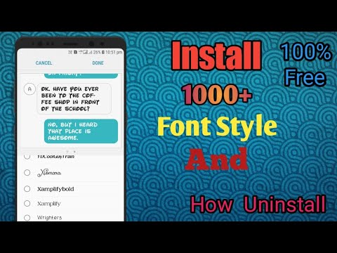 Install Samsung Oreo stylish Fonts in any Samsung phone | Uninstall Samsung  Oreo stylish Fonts