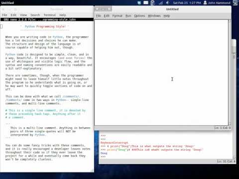 Python 08 Programming Style and Comments