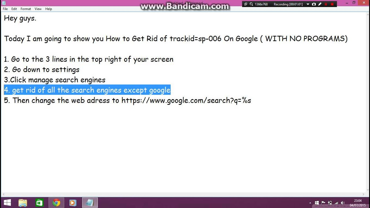 How to Get Rid of trackid\u003dsp-006 On Google ( WITH NO PROGRAMS) - YouTube
