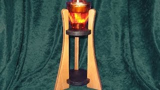 Make A Tall Candle Holder  - Woodworking