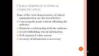 Ethical Issues of Business Communication