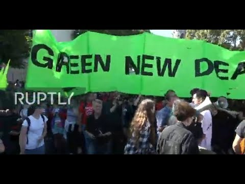 : Activists strike against climate change in London