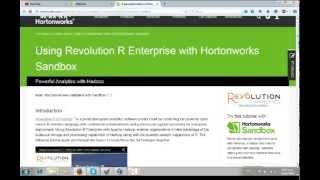 How to use Hortonworks Sandbox and Revolution R together.
