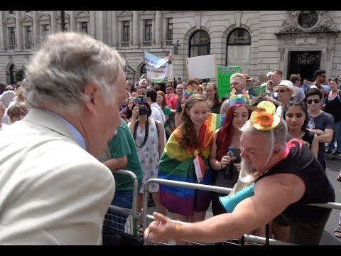 Scuffles Between Anti-gay Protesters And Rally Supporters At London Pride