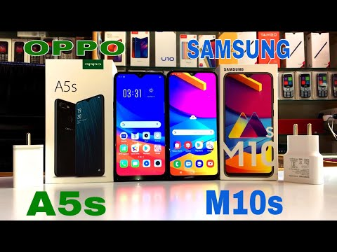 Samsung M10s Vs Oppo A5s Unboxing+review+compare+price in Hindi