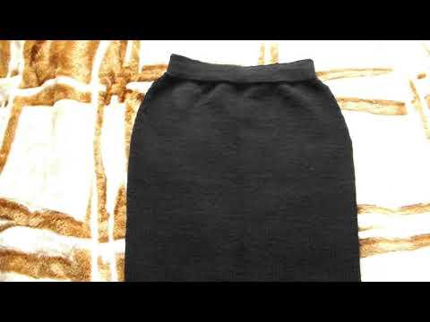 Юбка спицами для полной женщины фото черного цвета