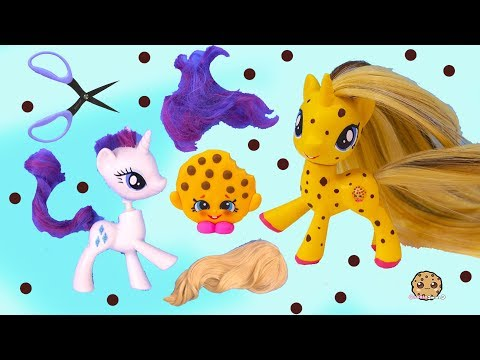 DIY Custom Shopkins My Little Pony ! MLP New Hair Root Craft Video