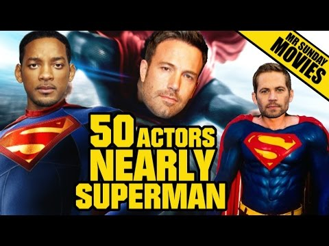 50 Actors Nearly Cast As SUPERMAN