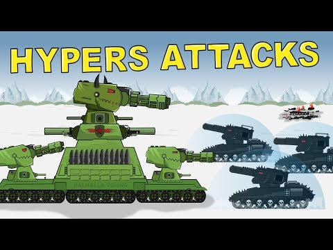 "Tank cartoon ""Monster KV 88 vs HYPERS - The Battles Beginning"""
