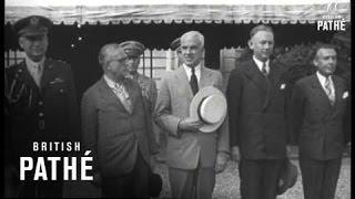 U.S. Honours President Of Iceland! (1945)