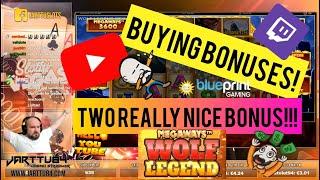Buying Bonuses!! Two Really Nice Bonus From Wolf Legend MegaWays!!