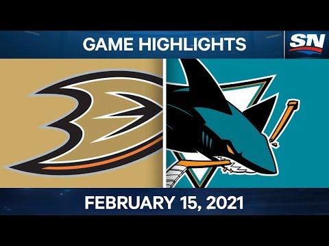 NHL Game Highlights | Ducks vs. Sharks - Feb. 15, 2021