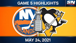 NHL Game Highlights   Islanders vs. Penguins, Game 5 - May 24, 2021