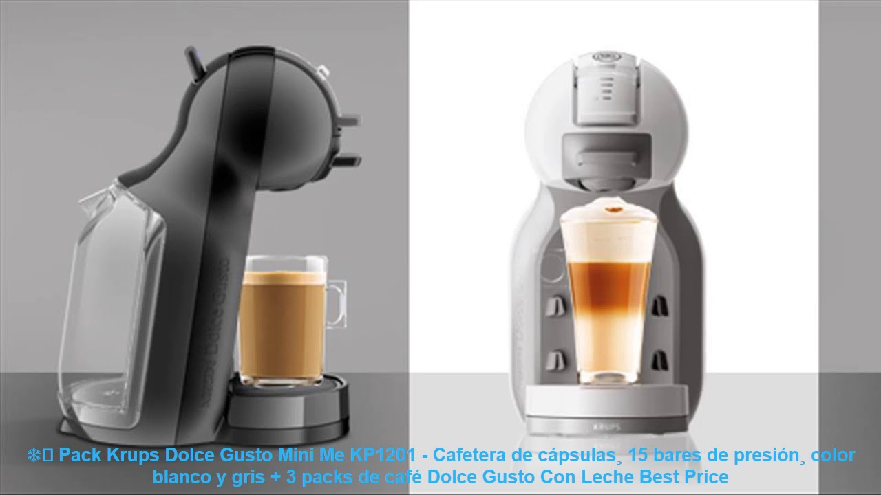 Cafetera monodosis Krups KP1205 Nescafe Dolce Gusto Mini Me color rojo y gris