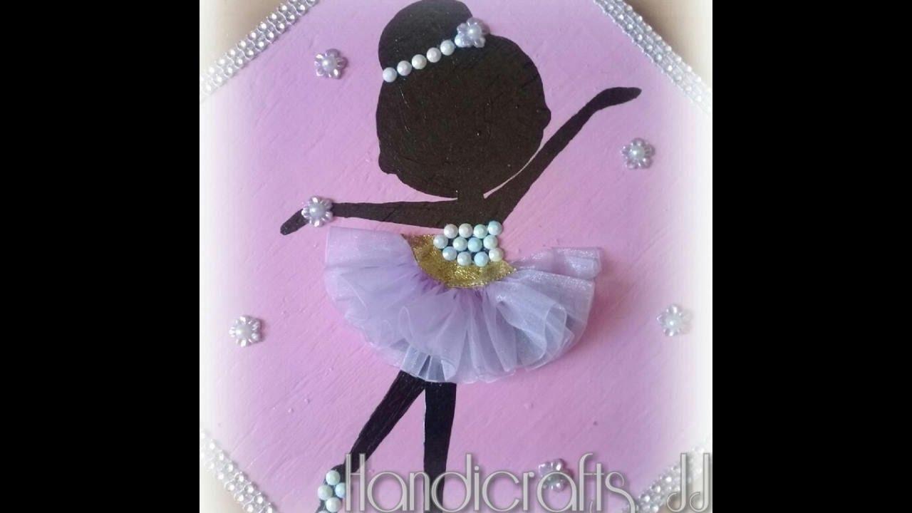 Cuadro de bailarina decorado con listn YouTube