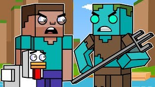 Ocean Adventures & Drowned | Block Squad (Minecraft Animation)