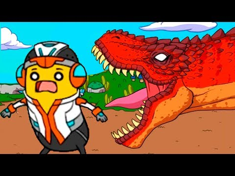Кид и ПУТЕШЕСТВИЕ БАНАНА #1 Побег от злого динозавра в веселой игре BANATOON 2 Парк Юрского периода