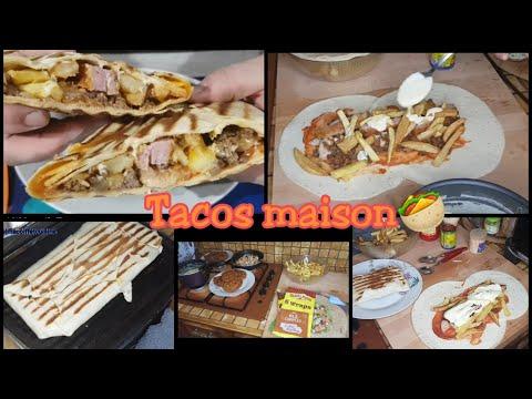 1er-fois-qui-mange-des-tacos-poulet,-viande-hachée,-cordon-bleu,-frite-avec-sauce-fromagère😋