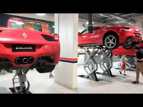 inside the Ferrari Workshop  Enzo  F430 488 575 360 Testarossa
