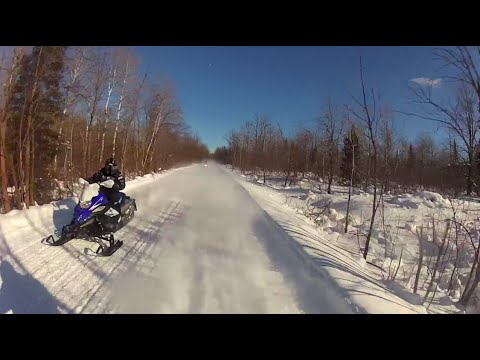 Snowmobile a Crazy 100 mph at Hurley, Wisconsin