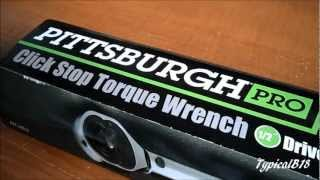 Pittsburgh Pro 1/2 Torque Wrench Video Look Only