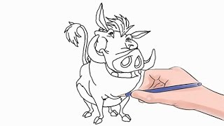 How to Draw Pumbaa Easy Step by Step