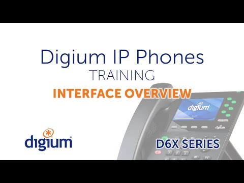 Digium IP Phones Training | 01 Interface Overview | D6X series