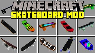 Minecraft SKATEBOARD MOD! | BUILD AND RIDE SKATEBOARDS! | Modded Mini-Game