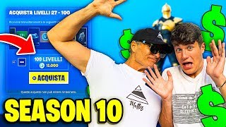 Mon DAD SCOPRE I SPENT à SHOPPARE TOUS les BATTLE PASS de SEASON 10! Fortnite, Fortnite