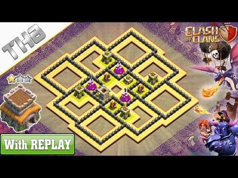 NEW BEST COC TH8 War Base 2019 with REPLAY !! Anti 2 & 3 Stars TH8 Base – Clash of Clans