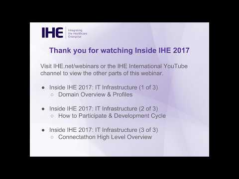 Inside IHE 2017: IT Infrastructure (1 of 3) - Domain Overview & Profiles
