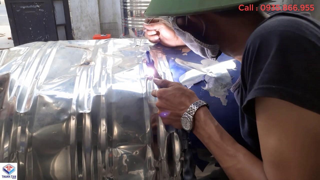 Dụng cụ để hàn bồn nước inox khi bị rò rỉ
