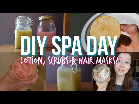 DIY Spa Day At Home: Lotion, Scrubs, Hair Mask + More!