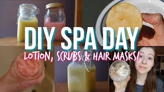 DIY Spa Day at Home: Lotion, Scrubs, Hair Mask + More!