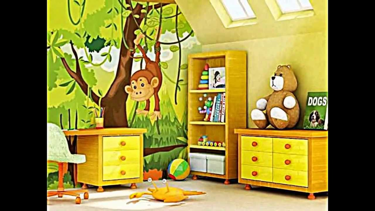 f r dschungel kinderzimmer und safari deko youtube. Black Bedroom Furniture Sets. Home Design Ideas