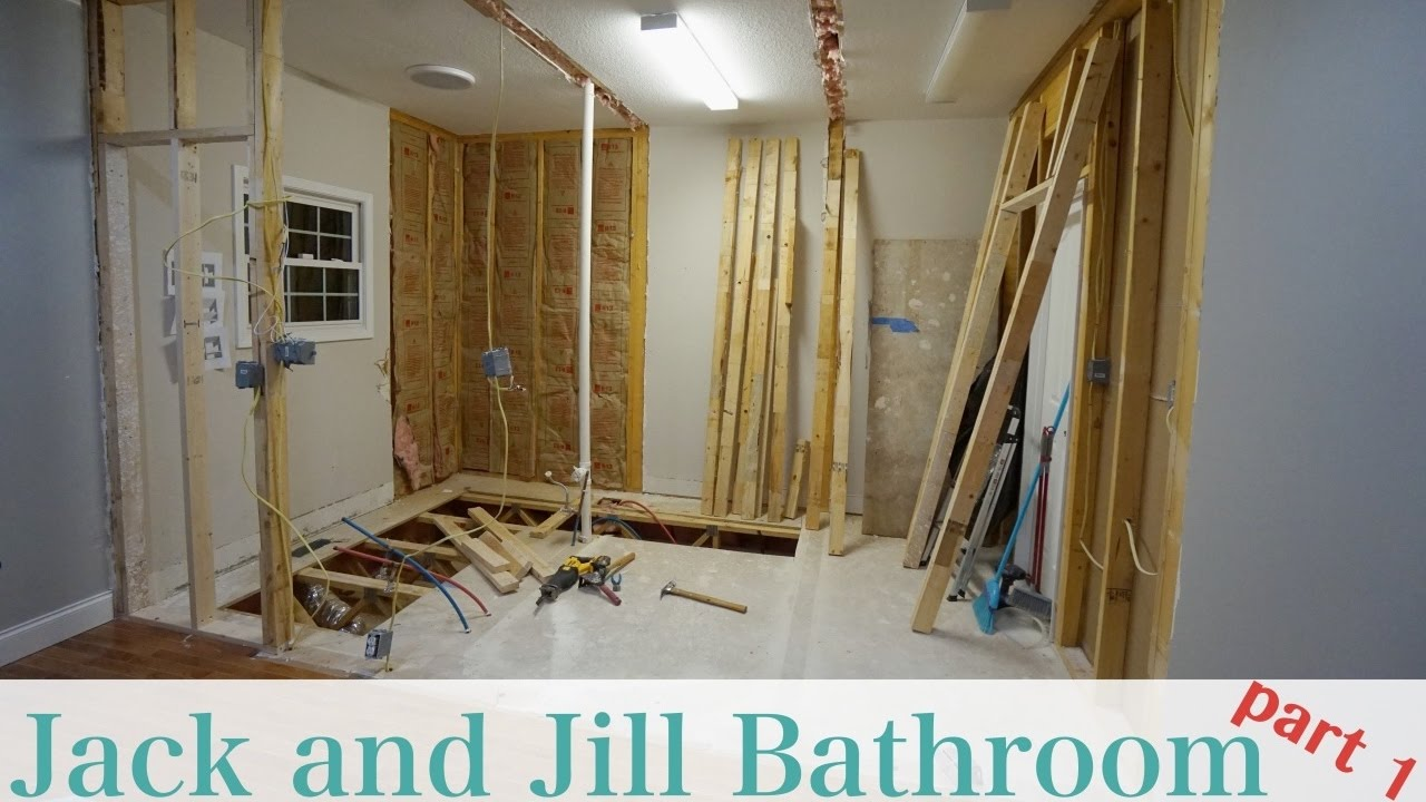 Jack And Jill Bathroom Remodel Part 1 Youtube