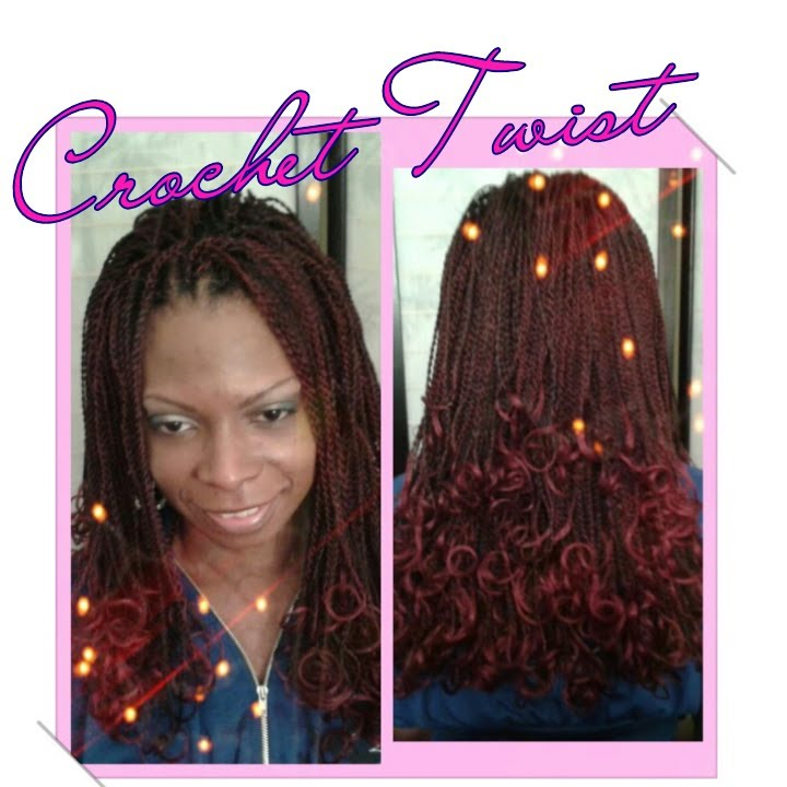 Pre Twisted Crochet Hair Styles : Crochet Senegalese Twist (Finished Look) - YouTube