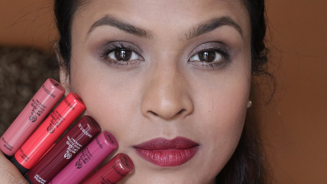 The Body Shop Matte Lip Liquid Review Swatches Photos Price DupesBe