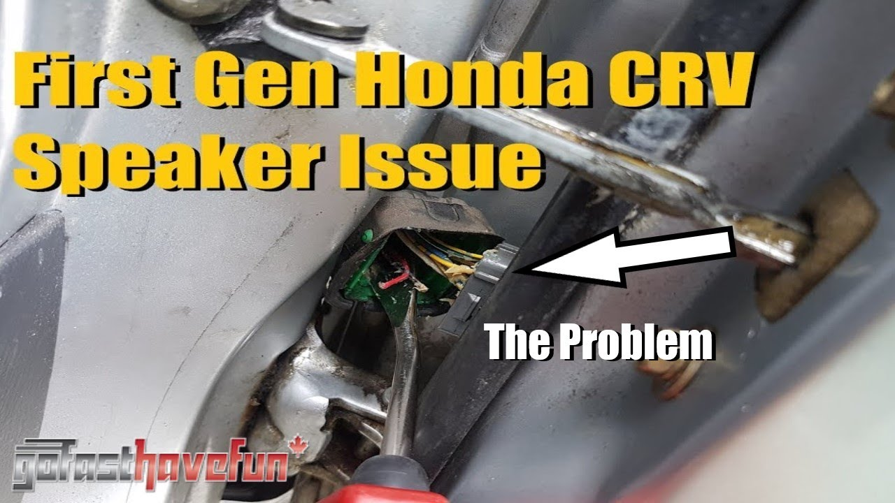 1997 2001 Honda Crv Front Speaker Not Working Fix Anthonyj350 2000 Civic Wiring Speakerinstall Nosound