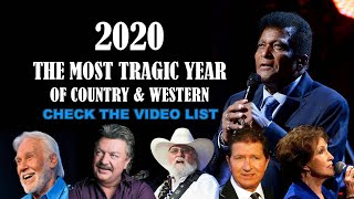 2020, THE MOST TRAGIC YEAR OF COUNTRY & WESTERN. Singers, Songwriters & Personalities´ List