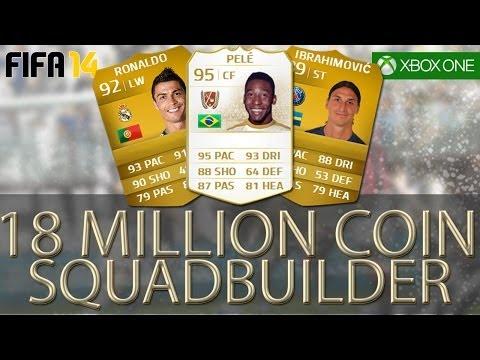 PELE , RONALDO + IBRAHIMOVIC 18 MILLION COIN SQUADBUILDER - FIFA 14