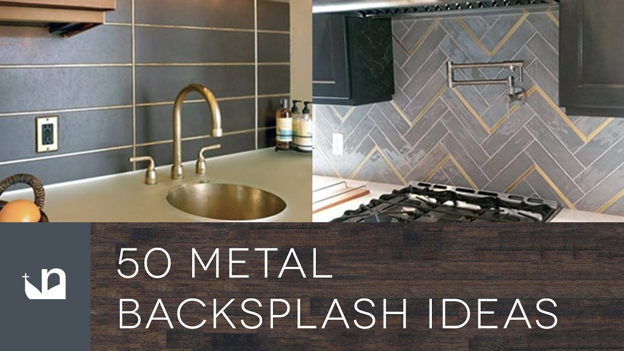 50 Metal Backsplash Ideas