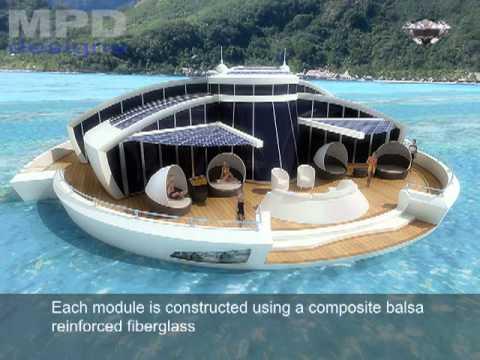 Yacht Island Design solar floating island conceptmpd designs - youtube