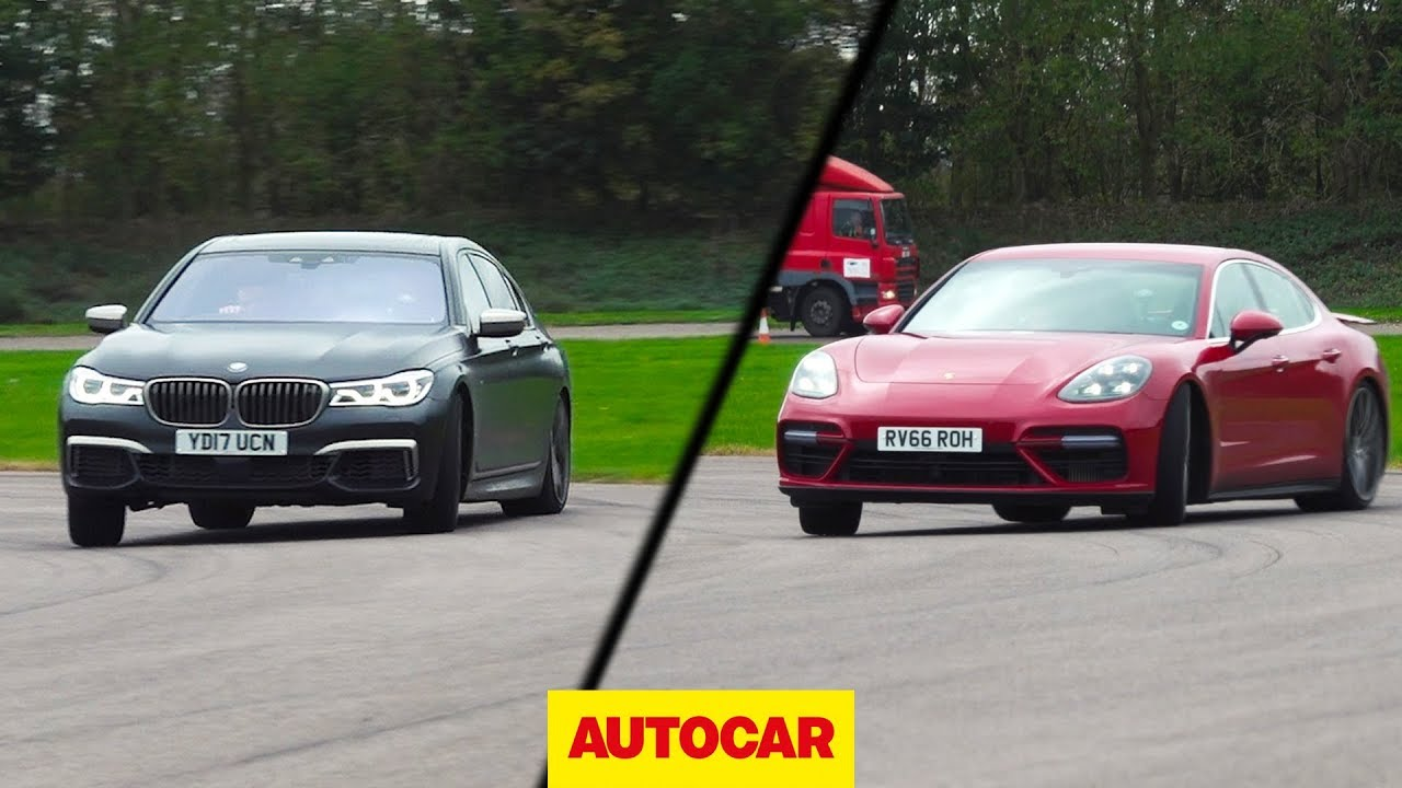 Bmw M760li Vs Porsche Panamera Turbo Drag Race Drifted Driven On Road Autocar
