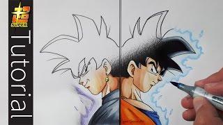 How To Draw Goku Vs Goku Black - Tutorial