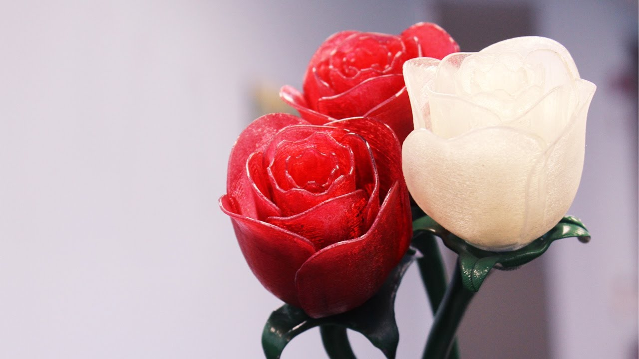 Happy Valentine S Day 3d Printed Roses Youtube