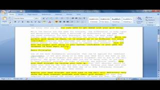 How to Create A Summary Of A Document In Word 2007