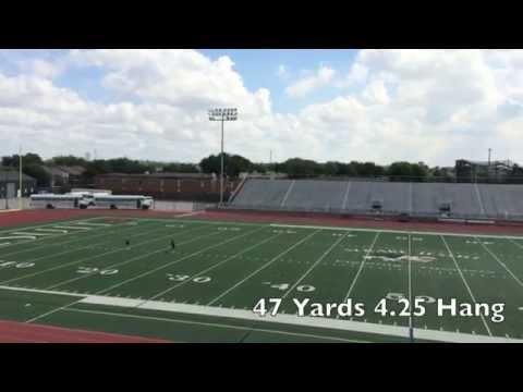 Adam Nunez Punting Skills Video 9/20/14