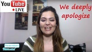 LIVE - We deeply apologize!!! - Поточно предаване на живо от Учи английски с Николая