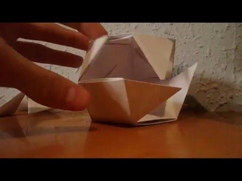 Modular rhombic dodecahedron, origami - Papiroturgo